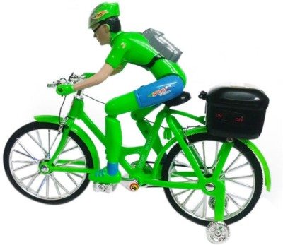 CP Bigbasket Street Bicycle Battery Operated Musical Cycle Toy(Green)