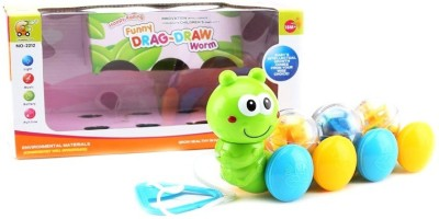 ToysBuggy Pull Along Funny Drag Draw Worm