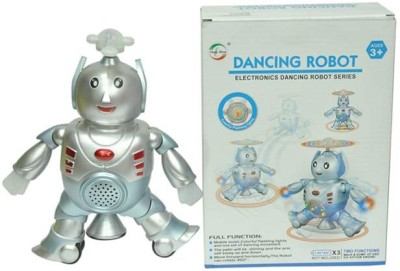 Turban Toys Battery Operated Musical Dancing Robot(Silver, Blue)