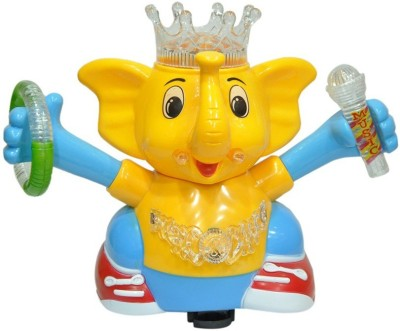Zaprap Multicolour Beautiful And Interesting Musical Dancing Elephant For Kids