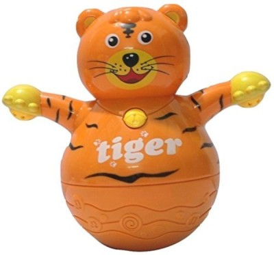 Littlegrin Musical Roly Poly Tiger with Projector Lighting Gift Toy for Toddlers Infants Kids ...
