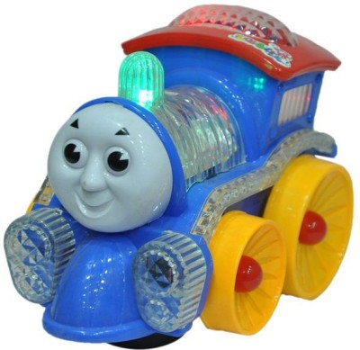 Zaprap Multicolor Light And Sound Musical Funny Loco Engine For Kids