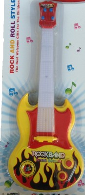 New Pinch Battery Operated musical guitar big With Pop Music Fetching Light and Sound(Multicolor)