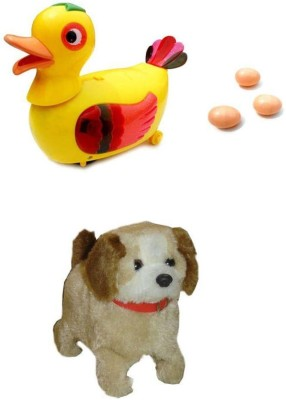 A R ENTERPRISES Egg Laying Duck and Jumping Dog- Musical toys