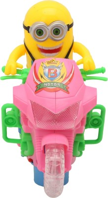 Baby tintin Despicable ME Minion scooter with LED light