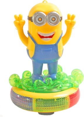 SJ Funny Minion with Light Sound Battery Operated Toy(Multicolor)