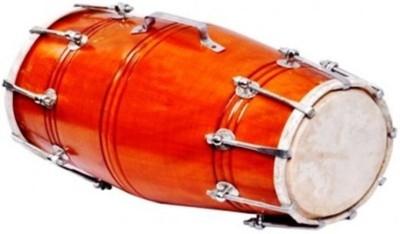 Gajraula Crafts Orange Dholak