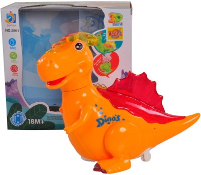 VENUS-PLANET OF TOYS Orange Little Dinos With Music & Lights For 4-6 Years