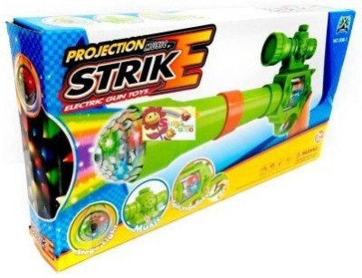 Shop & Shoppee Projection & Musical Strike Electric Toy Gun For Kids