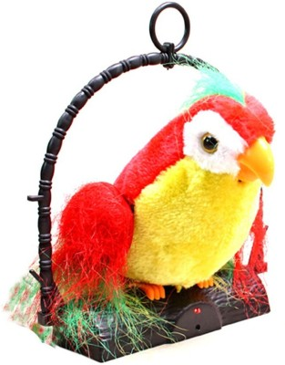 Amrit Gallery Talk Back Parrot(It Records And Repeats What You Say)(Red, Yellow, Green)