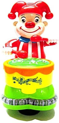 Bandwagon Colorful Happy Clown Drummer With 3D Light
