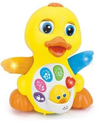 GoMerryKids Melodies & Song Singing Yellow Duck with Flapping Wings