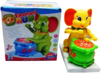 Shop & Shoppee Cute Elephant Music Drummer