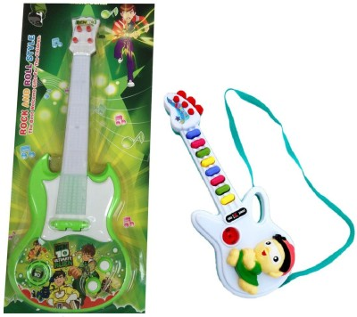 New Pinch Battery Oprated rockband Green Big With Small Guitar