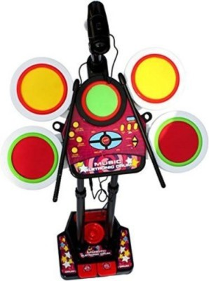 Dinoimpex Dino Fun Electronic Junior Jazz Drum Beat Set With Mp3 Plug-In + Microphone + Pedal Mechanism + Adjustable Heights