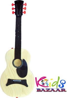 Kids Bazaar Musical Classic Guitar Battery Operated Musical Guitar String Toy(Yellow, Black)