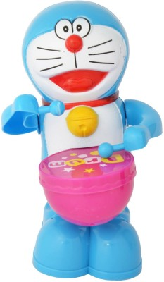 New Pinch Musical Drummer- Battery Operated Toy- Play Drums With Music & Light(Blue)