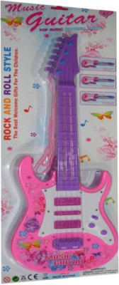 New Pinch Rockband Musical Guitar for Kid Battery Operated With Pop Music Fetching Light and Sound(Pink)