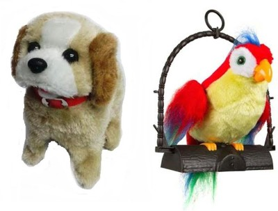 FairToys Combo Of Fantastic Puppy And Talk Back Parrot