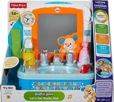 Fisher Price Laugh and Learn Sink Multi Color(Multicolor)