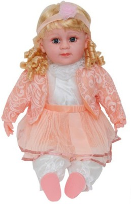 zaprap Multicolor Plastic Fiber And Nylon Singing Baby Doll