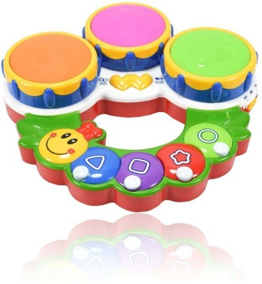 Planet of Toys Educational Learning Musical and Lights Caterpillar Drum