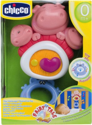 Chicco 3 Little Pigs Cot Toy(Multicolor)