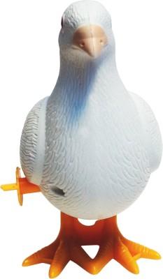 Abhika Studio White Walking Pigeon Toy