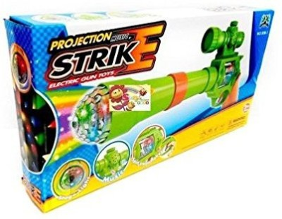 GoMerryKids Projection & Musical Strike Electric Toy Gun For Kids(Multicolor)