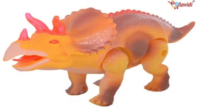 LAVIDI Battery operated Musical Walking Dinosaur with Light & Sound