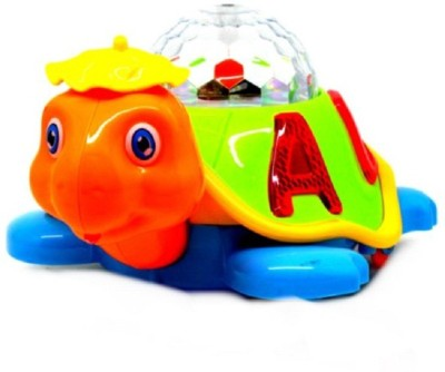 Light Gear Turtle Rotating Colorfull Disco Light Musical Toy Moves In & Around