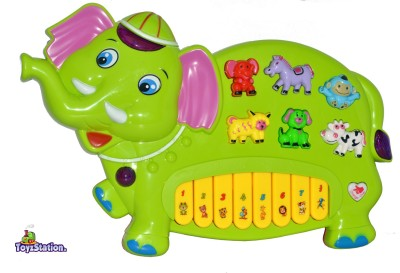 Toyzstation Elephant Musical Piano With 3 Modes Animal Sounds, Flashing Lights & Wonderful Melodious Music