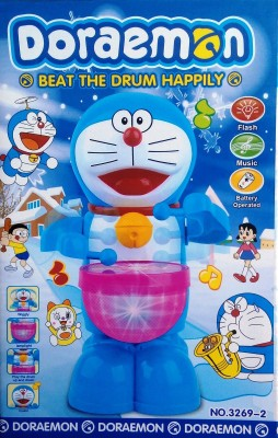 MEF Happy Drummer Doramon Beat the drum happily Toy with Flash and Music