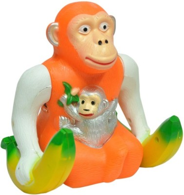 Turban Toys Musical Jumping Banana Monkey(Multicolor)