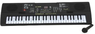 A R ENTERPRISES 54 Keys Piano With LED Display - Black And White