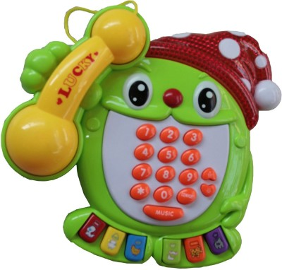 Adraxx Kids Funny EducationalTelephone Set With Number, Graphics, Light And Music