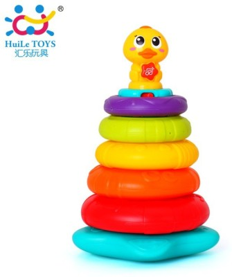Jaibros Rainbow Duck Musical Stack Toy for Kids