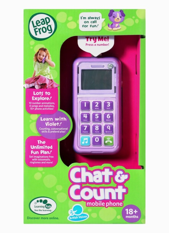 LeapFrog Chat and Count Smart Phone(Purple)