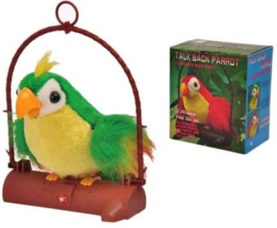 PTC Talk Back Parrot Battery Operated Toy For Kids(Multicolor)