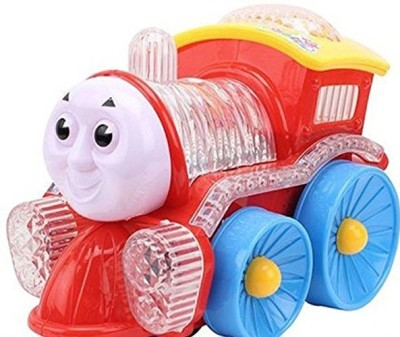 Surya Funny Locomotive Omni Direction Musical Toy Train with Flashing LED Lights