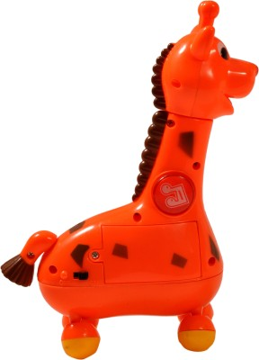 Mera Toy Shop Musical Cartoon Giraffe-Red