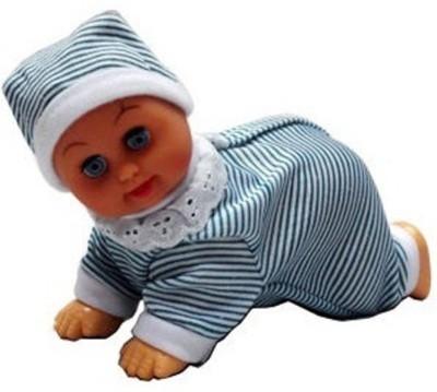 Turban Toys Crawling Baby Boy With Cap