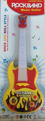 New Pinch Musical Guitar For Kid Battery Operated With Pop Music Fetching Light And Sound(Multicolor)