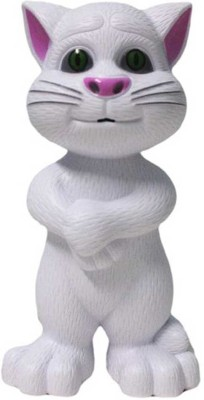 Zaprap White Plastic Musical Talking Tom Cat For Kids