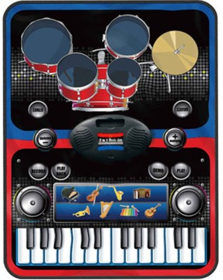 Gifts & Arts Electronic 2 in 1 Drums and Piano Set Musical Jam Playmat
