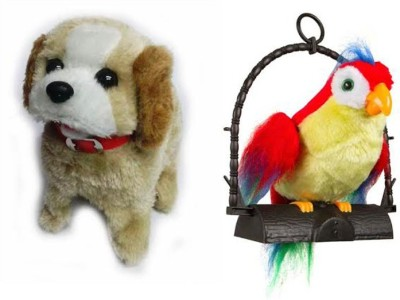 A R ENTERPRISES JUMPING DOG WITH TALKING PARROT