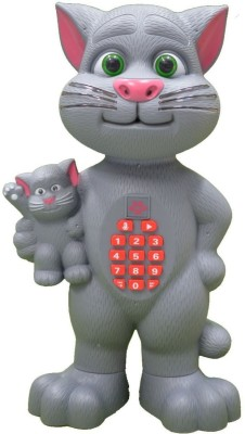Wishkey Talking Mother and kid Cat Toy for kids early education with various functions