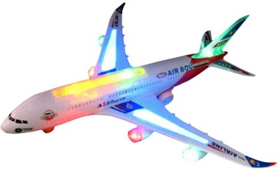 adiEstore Airbus Musical Plane Bump and Go with Light