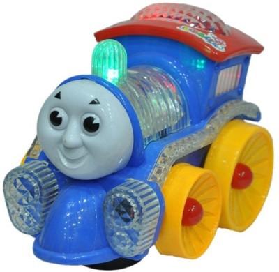zaprap Multicolor Plastic Musical Funny Loco Engine With Light