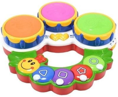 A R ENTERPRISES Multicolor Plastic Caterpillar Shaped Toy Drum